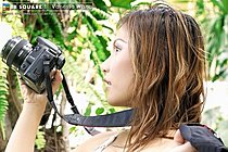 Big Tit Photographer Vanessa Wang Strips And Spreads Pussy