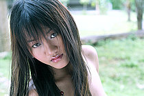 Pretty Amber Chan Stripping Pink Babydoll Outdoors