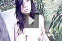 Breasty beauty Hana stripping bikini outdoors